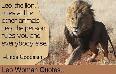 Leo woman quotes